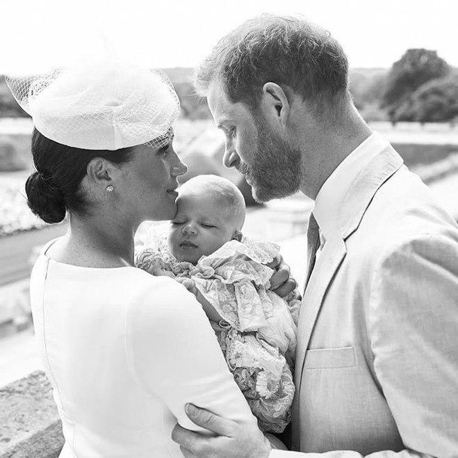 Меган Маркл, принц Гарри и их сын Арчи