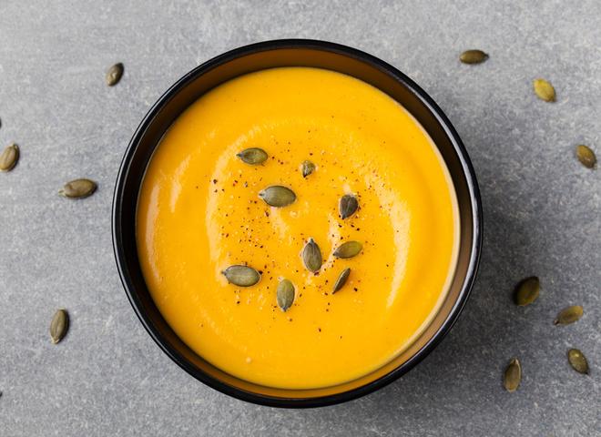 809 depositphotos 113167570 m 2015 - Pumpkin cream soup French recipe