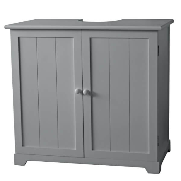 classic under sink cabinet with 2 doors 1 shelf grey