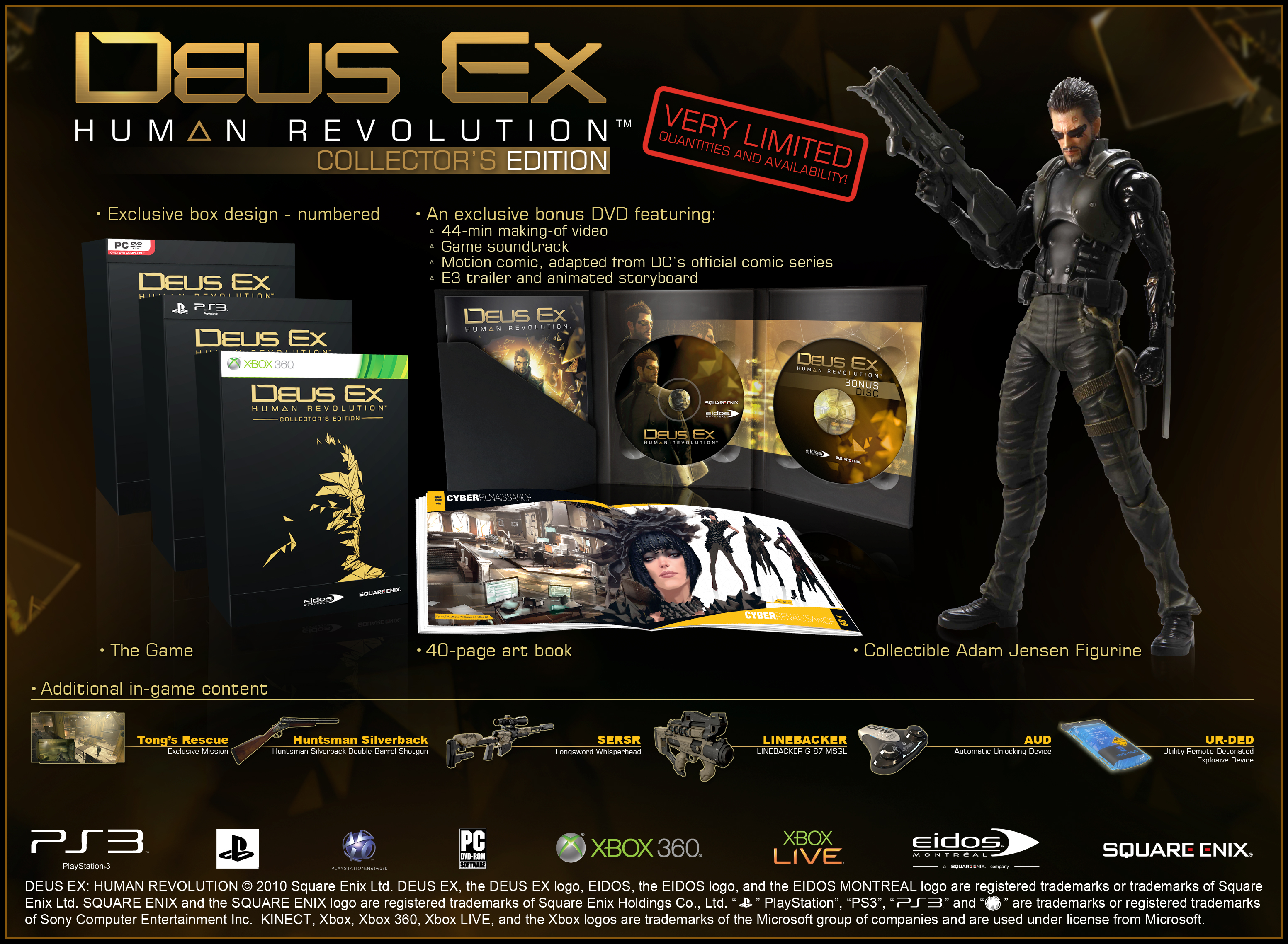 Deus Ex Human Revolution Collectors Edition Xbox 360 Zavvi