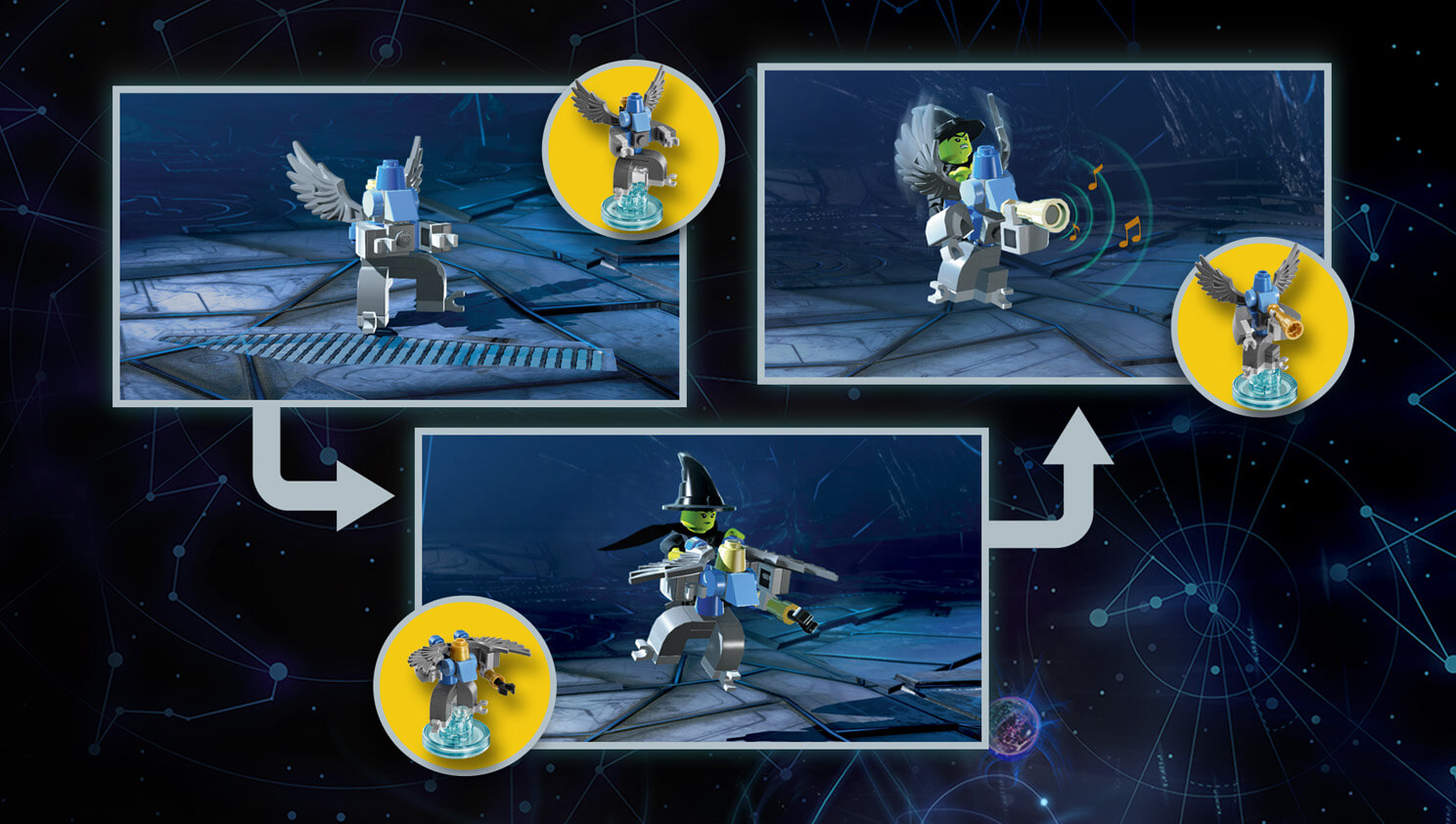 Lego Dimensions Wizard Of Oz Wicked Witch Fun Pack Games