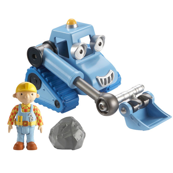 Bob The Builder Scoop Shaped Case With 3 Vehicles