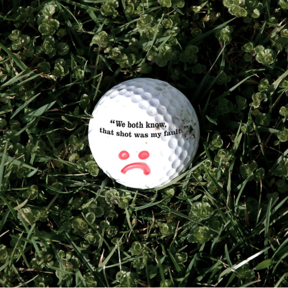 Self Deprecating Golf Balls IWOOT