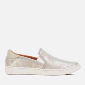 UGG Women's Cas Stardust Metallic Suede Slip-On Trainers - Silver