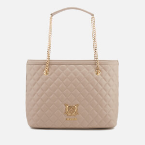 Love Moschino Women's Quilted Shopper Bag - Taupe