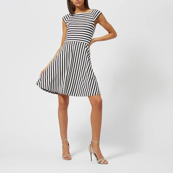 Armani Exchange Women's Striped Ponte Dress - Navy/White