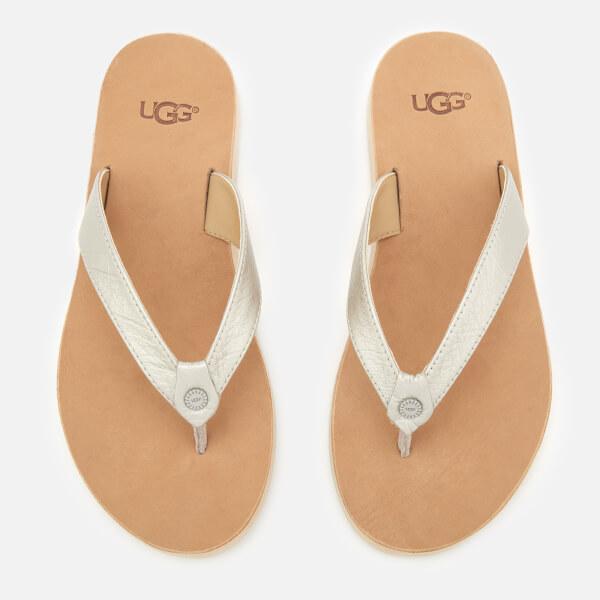 UGG Women's Tawney Flip Flops - Silver