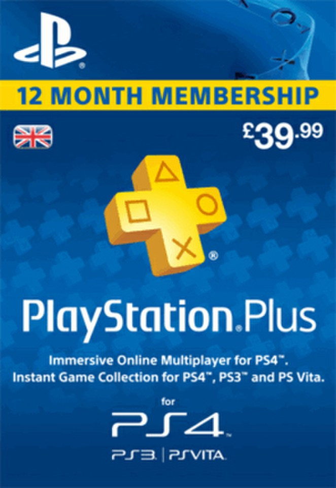 PlayStation Plus 12 Month Membership Games Accessories | Zavvi