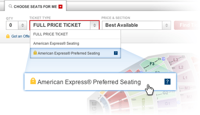 American Express Preferred Seating Phone Number