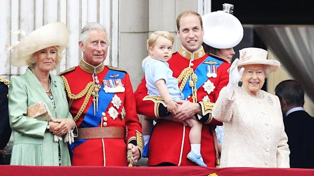 Prince George joins his family on the balcony at Buckingham Palace
