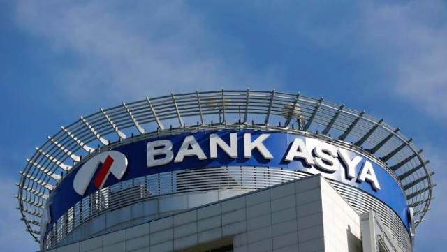 Bank Asya headquarters is pictured in Istanbul