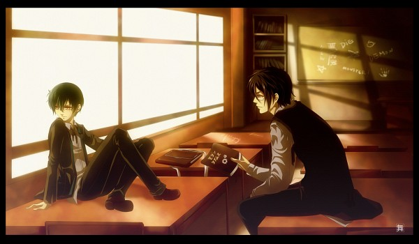 Tags: Anime, KuroMai, Kuroshitsuji, Ciel Phantomhive, Sebastian Michaelis, Black Border, Classroom
