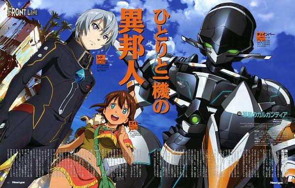 Tags: Anime, Ishikawa Mariko, Production I.G., Suisei no Gargantia, Chamber (Suisei no Gargantia), Ledo (Suisei no Gargantia), Amy (Suisei no Gargantia)