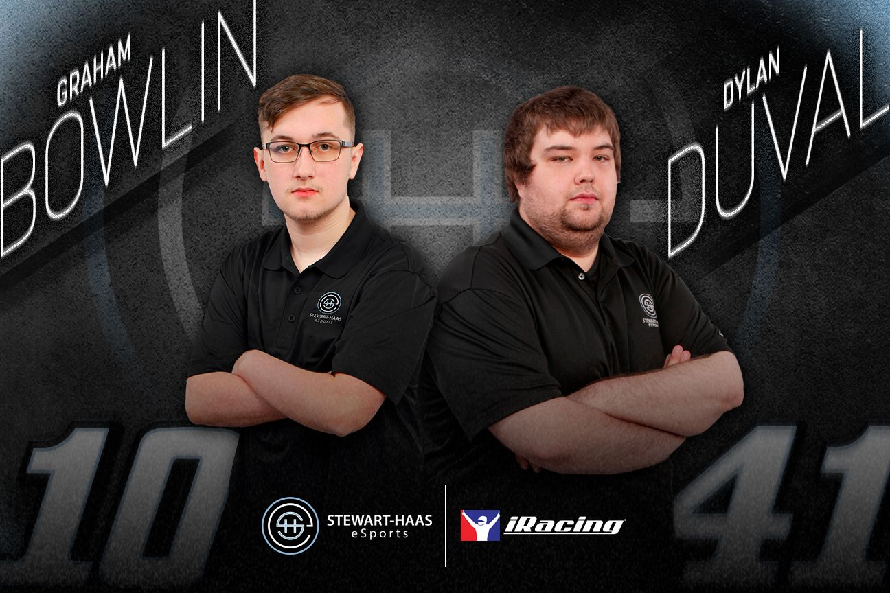 Stewart-Haas confirm Bowlin and Duval for 2021 iRacing eNASCAR