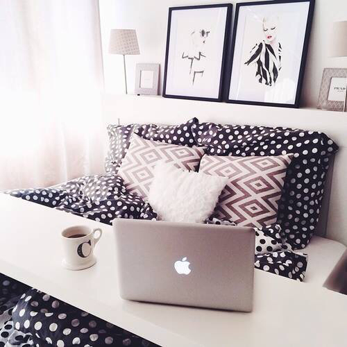 apple, bed, bedroom, coffee, comfortable