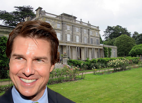 Tom Cruise (via wikipedia) and Saint Hill Manor