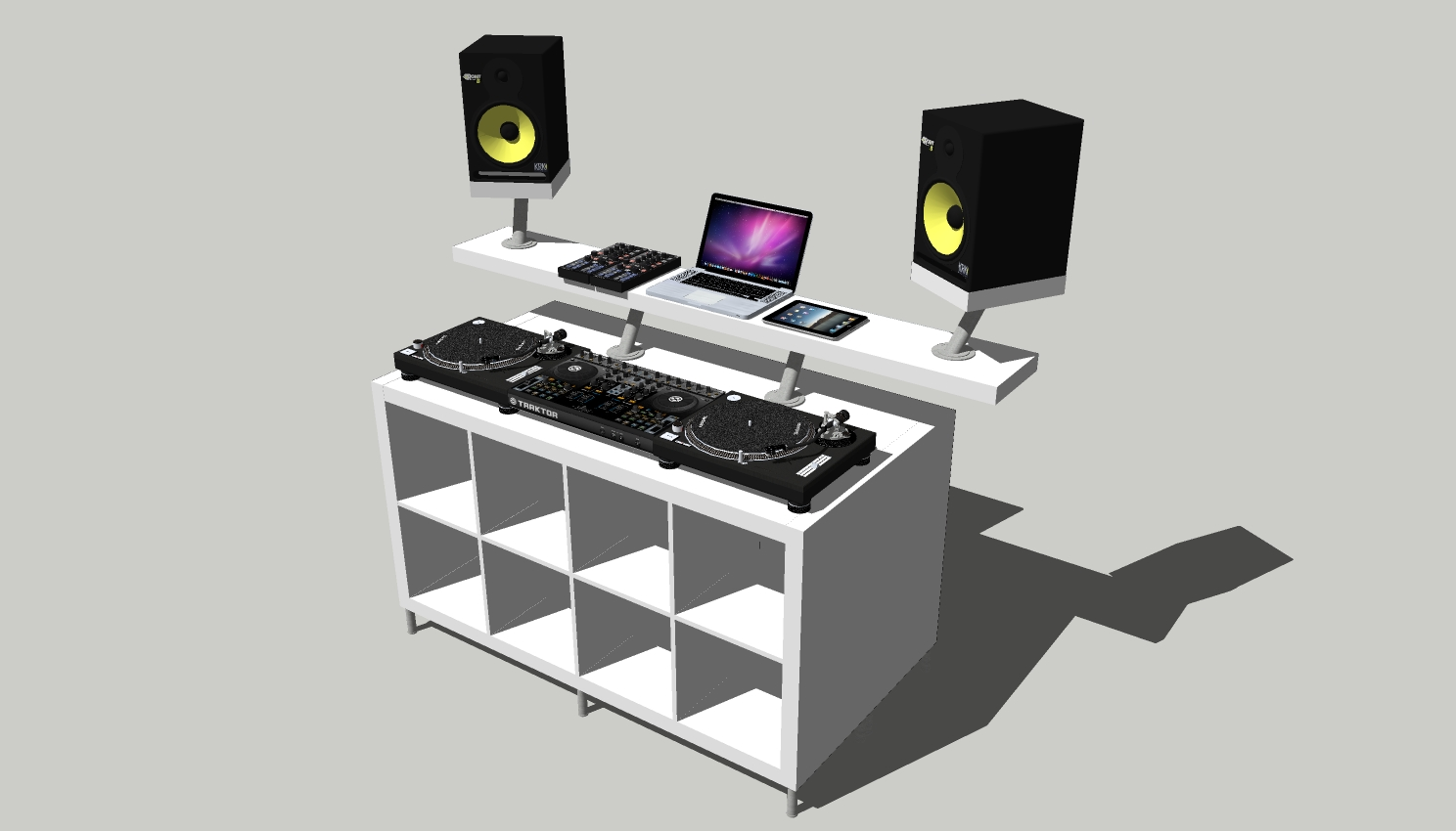 professional dj booth from ikea parts