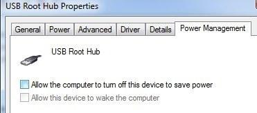 usb root hub prop