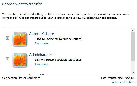 account transfer
