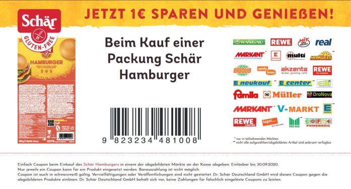 Schär glutenfreie Hamburger