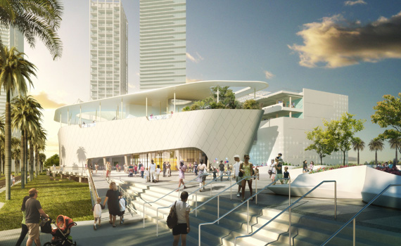 Rendering of The Patricia and Phillip Frost Museum of Science in Miami.