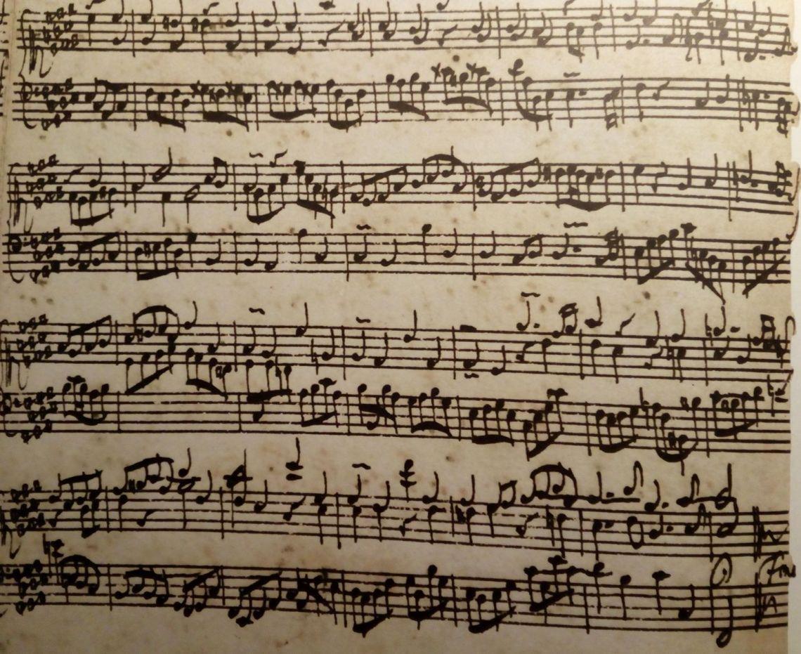 In Bachs Handschrift London Zweieinhalb Takte Fruher Beginnend Achtung Er Notiert Rechte Hand Im Sopranschlussel Also Eine Terz Tiefer Lesen