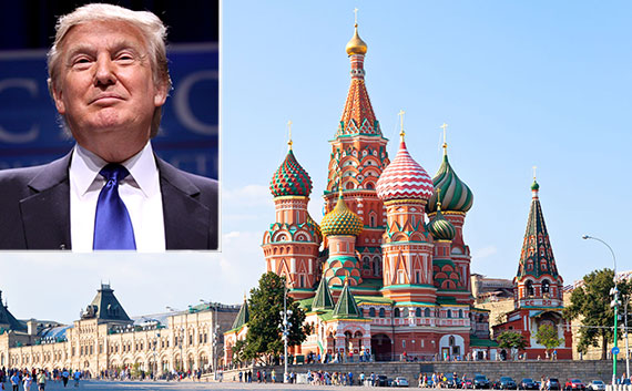 Image result for photos of donald trump in russia