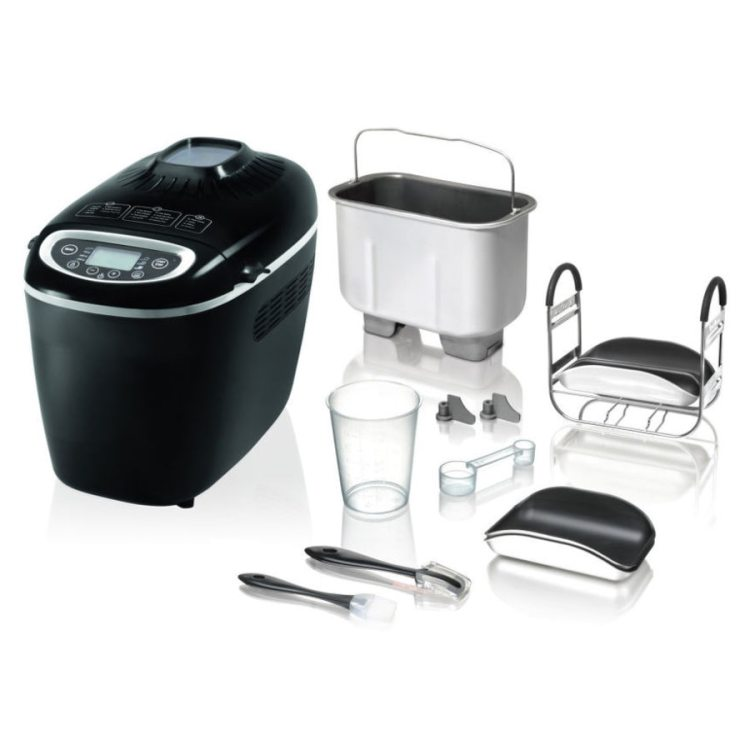 Masina de paine Tefal Bread of the World PF6118, 1600 W, 1500 g, 19 programe, Negru