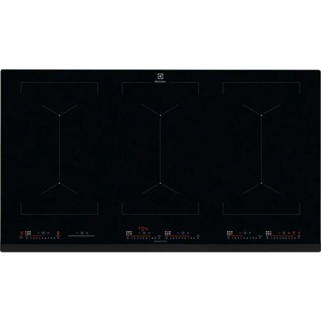 Plita incorporabila Electrolux EIV9467, Inductie, 6 zone de gatit, Touch control, 91 cm, Sticla neagra