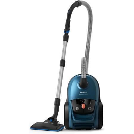 Aspirator cu sac Philips Performer Silent FC8783/09, 650 W, 4 L, Cap de aspirare TriActive Pro, Albastru