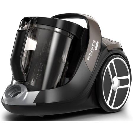 Aspirator fara sac Rowenta X-Trem Power Cyclonic Facelift RO7266, 550 W,Clasa A+, 3 niveluri de filtrare, maner Ergo Comfort cu perie Easy Brush incorporata, Gri