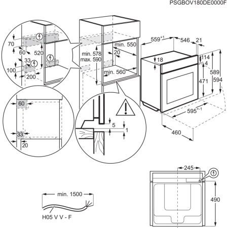 Cuptor incorporabil AEG BCE556350M, Electric, Autocuratare catalitica, 71 l, Clasa A+, Gatire cu abur, Grill, Timer, Inox antiamprenta