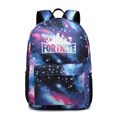 Rucsac Fortnite Design Galaxie, pentru copii, mare, rezistent apa, cu buzunar anti furt