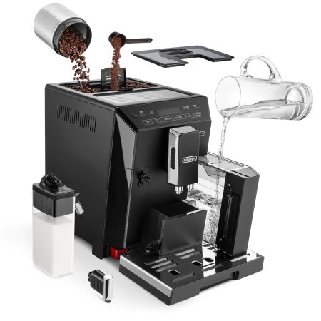 Espressor Automat De'Longhi Eletta ECAM 44.660 B, 1450 W, 15 bar, 2 L, Negru