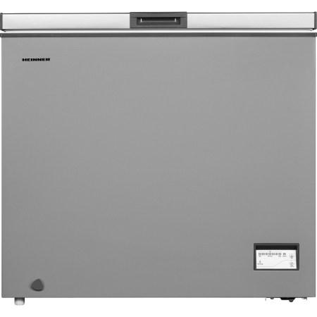 Lada frigorifica Heinner HCF-205NHSA+, 200 l, Control elecronic, Waterproof Display, Clasa A+, Silver, Winter Protection