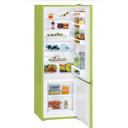 Combina frigorifica Liebherr CUkw 2831, 265 L, SmartFrost, Control mecanic, Raft sticle, H 161 cm, Clasa A++, Verde