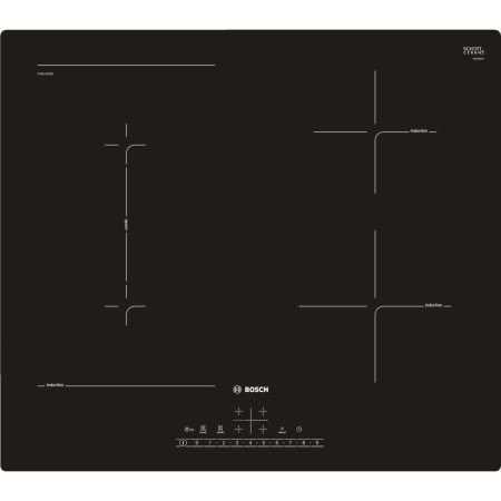 Plita incorporabila Bosch PVS611FB5E, Inductie, 4 zone de gatit, QuickStart, PowerBoost, Touch Control, 60 cm, Negru