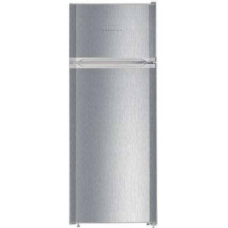 Frigider cu 2 usi Liebherr CTel 2531, 233 L, SmartFrost, Control mecanic, Iluminare interioara LED, Sertar legume, H 140.1 cm, Clasa A++, Argintiu