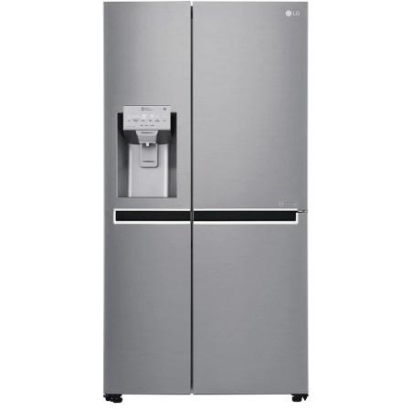 Side by side LG GSL961PZUZ, 600 l, Clasa A++, No Frost, Dispenser apa, Compresor Liniar Inverter, WiFi, Smart Diagnosis, H 179 cm, Argintiu