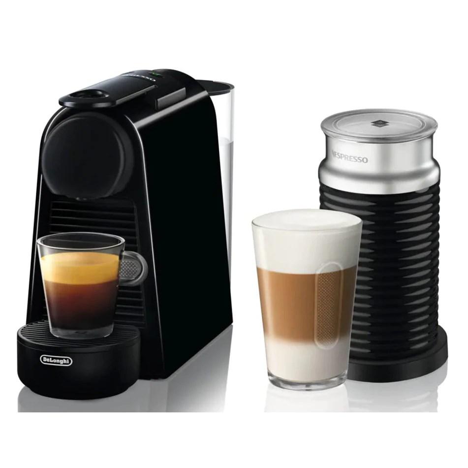 Pachet espressor Nespresso De'Longhi Essenza Mini Black, 19 bari, 1260 W, 0.6 l + Aparat pentru spumare lapte AEROCCINO 3 Black 410W
