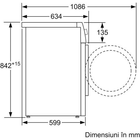 Uscator de rufe Bosch WTX87M90BY, Pompa de caldura, 9 kg, 15 programe, Clasa A++, AutoDry Technology, Alb