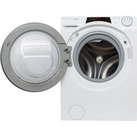 Masina de spalat rufe Candy RapidO, RO 1496DWH7\1-S, 9 kg, 1400 RPM, Clasa A+++, Motor Inverter, Wi-Fi, Smart Steam, Alb