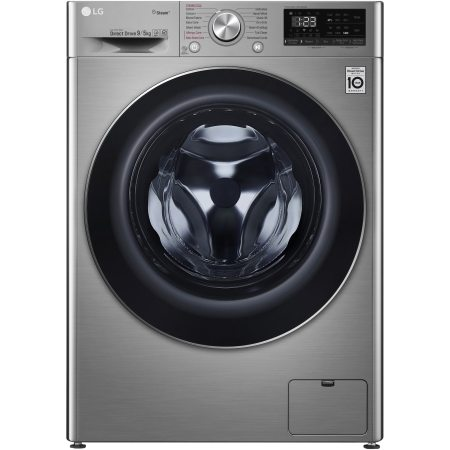 Masina de spalat rufe cu uscator LG F4DN409S2T, Spa Steam, 1400 RPM, Spalare 9 kg / Uscare 5 kg, Clasa A, Motor AI Direct Drive, Smart Diagnosis, WiFi, Argintiu