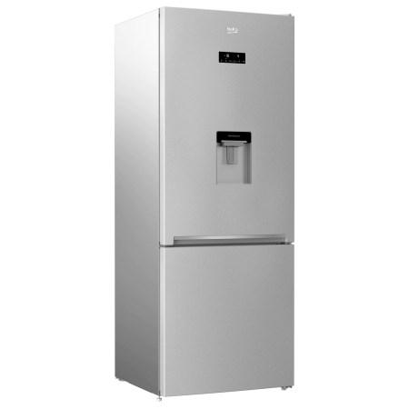 Combina frigorifica Beko RCNE560E30DZM, 497 l, Clasa A++, NeoFrost Dual Cooling, Dispenser apa, Everfresh+, Kitchen Fit, H 192 CM, Gri