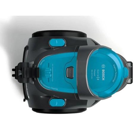 Aspirator fara sac Bosch BGS05X240, 1.5 l, 700 W, reglare electronica, Filtru igenic PureAir, perie mini turbo, Albastru