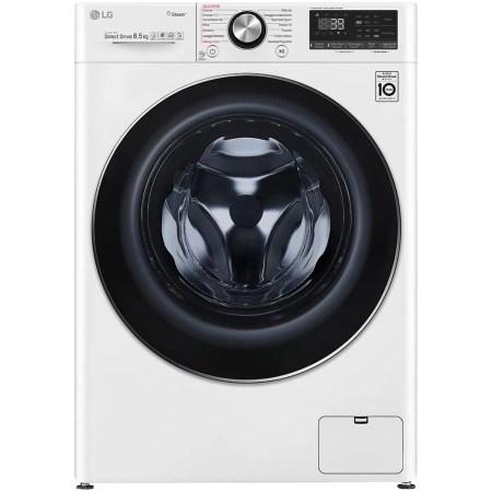 Masina de spalat rufe LG F2WV9S8P2, 8.5 kg, 1200 RPM, Clasa A+++, Motor AI Direct Drive Inverter, Turbowash, Steam+, WiFi, Alb