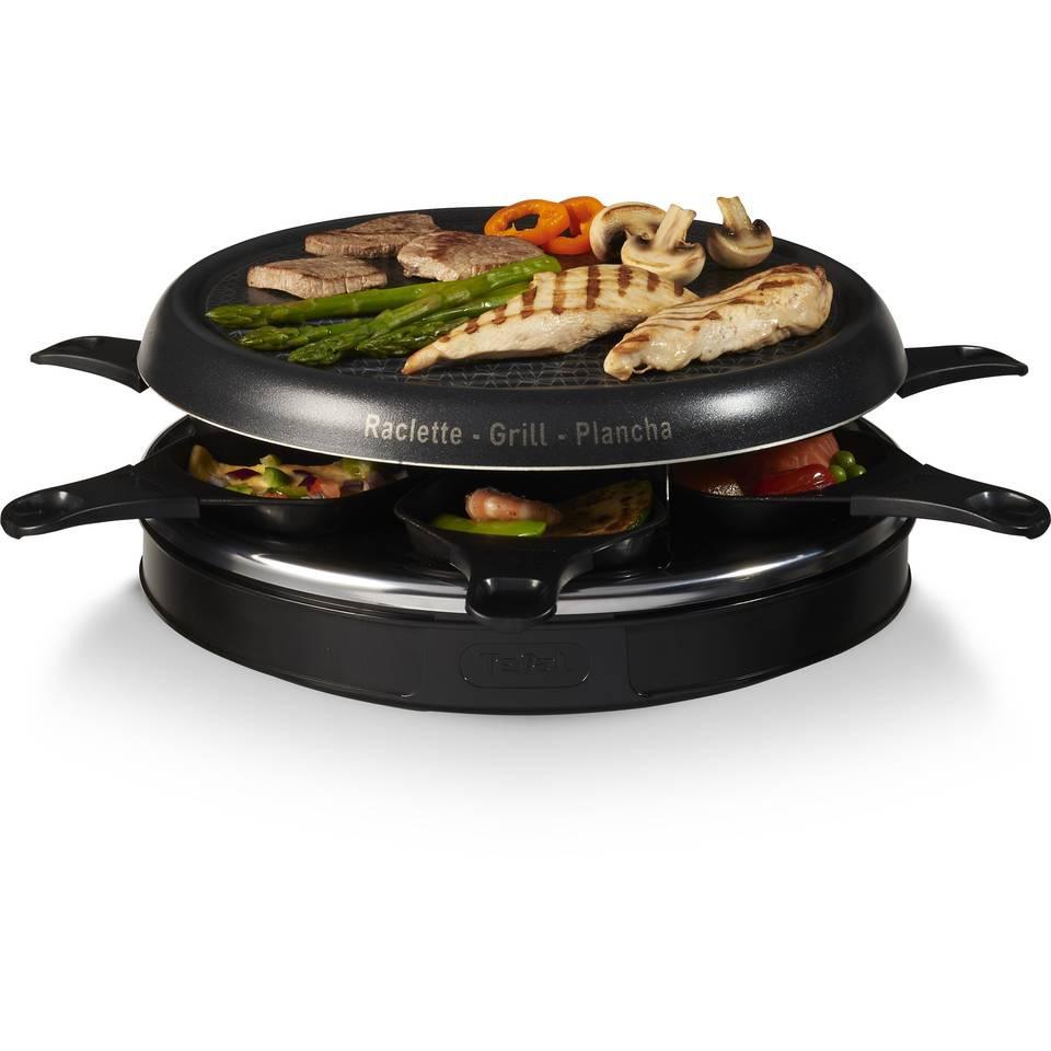 raklet gril 3v1 tefal re1288 raclette grill 850w 3 funkcii 6 br malki tigani nezalepvasha gril plocha s diametr 300 mm temperaturen indikator