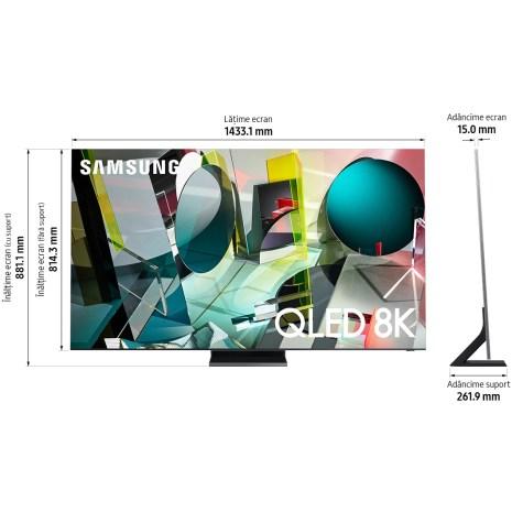 Televizor Samsung 65Q950T, 163 cm, Smart, 8K Ultra HD, QLED