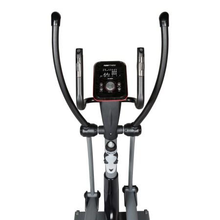 Bicicleta eliptica Flow DCT2500I, Greutate utilizator 140 kg, 23 programe antrenament, Bluetooth, Roti transport