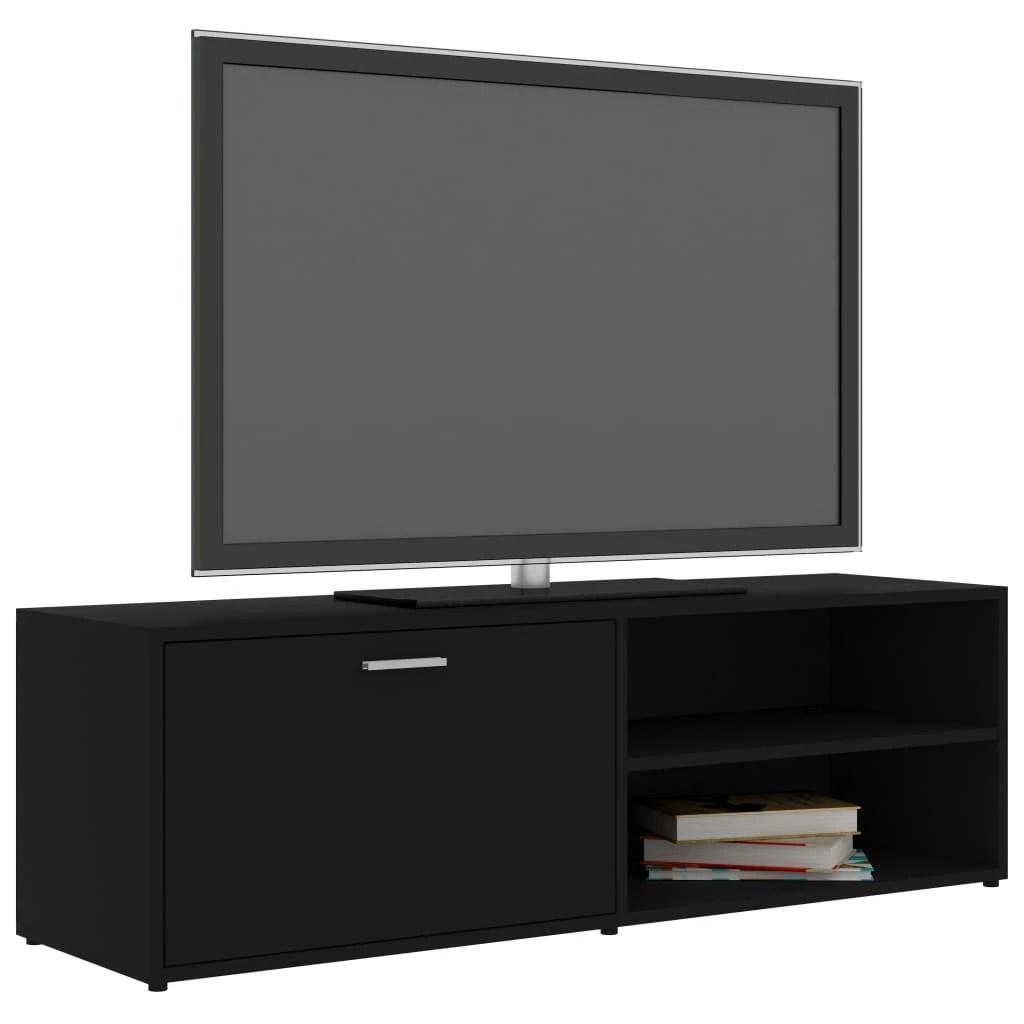 comoda tv vidaxl pal 120 x 34 x 37 cm negru